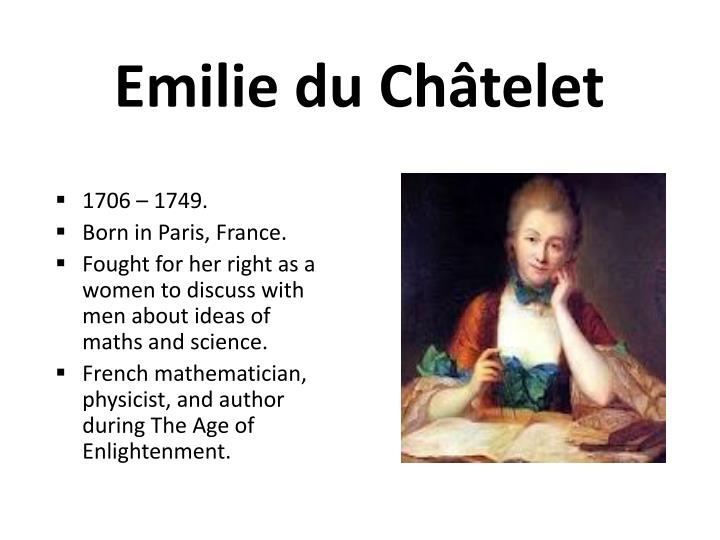 the life and contribution of emilie du chatelet and voltaire
