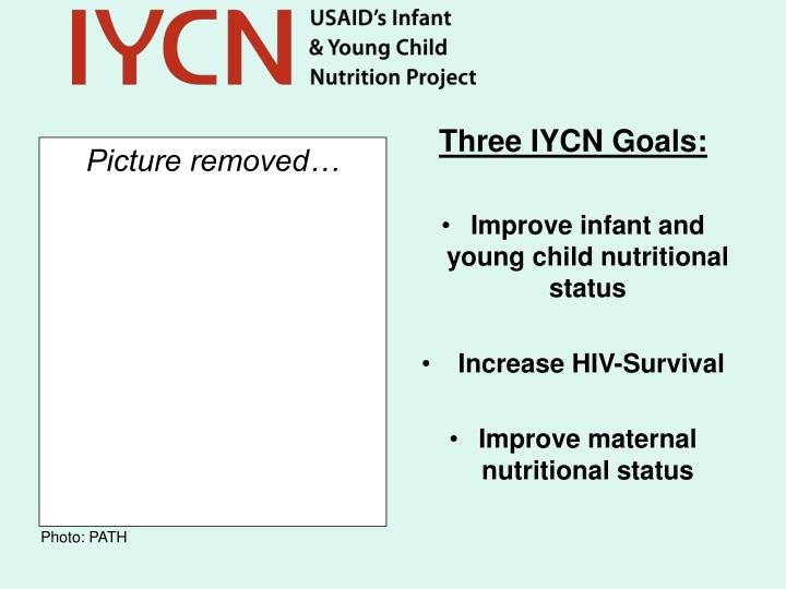 Three IYCN Goals: