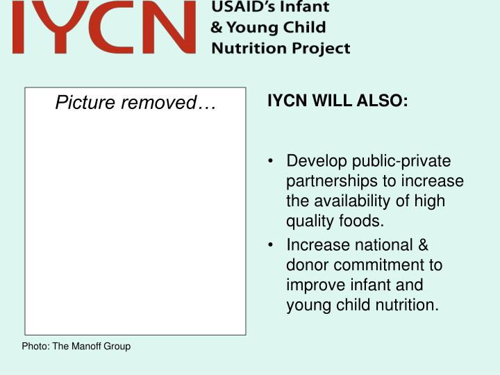 IYCN WILL ALSO: