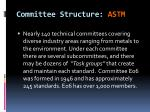 committee structure astm