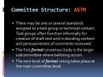 committee structure astm1