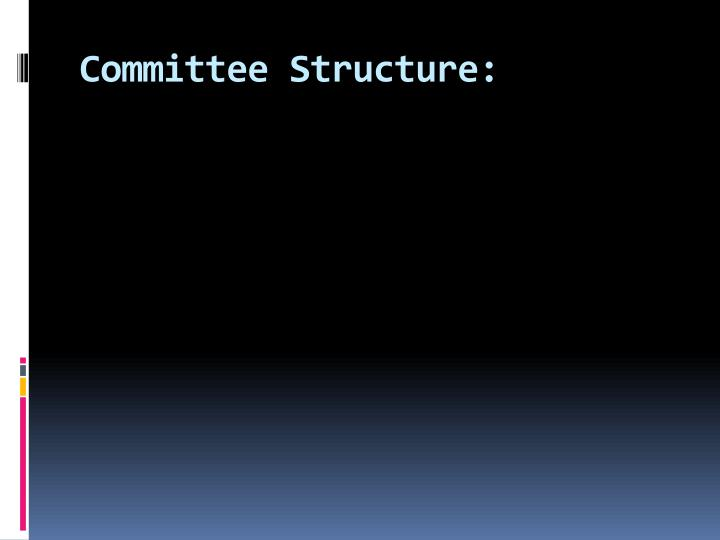 Committee Structure:
