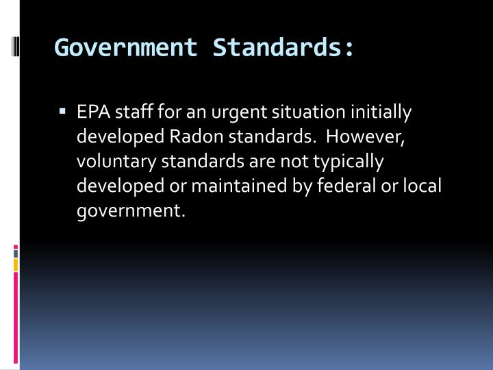 Government Standards: