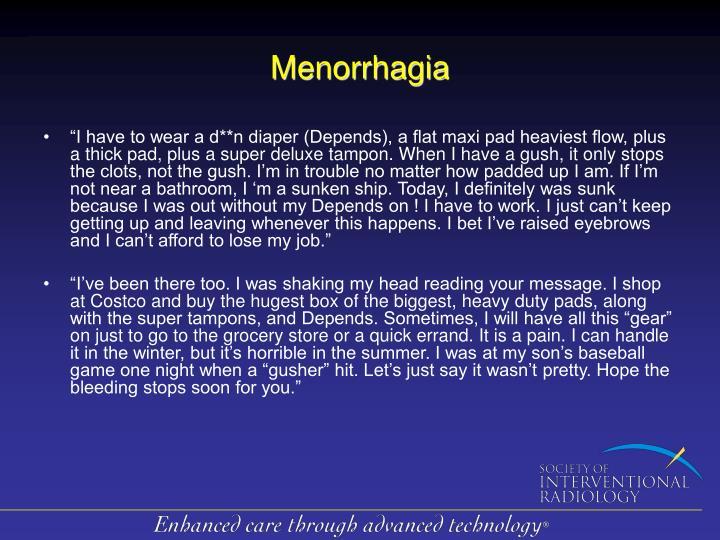 Menorrhagia