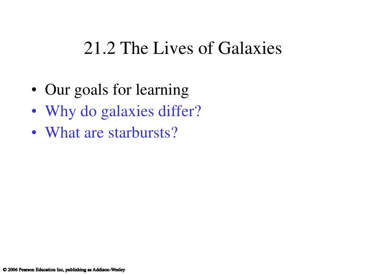 21.2 The Lives of Galaxies
