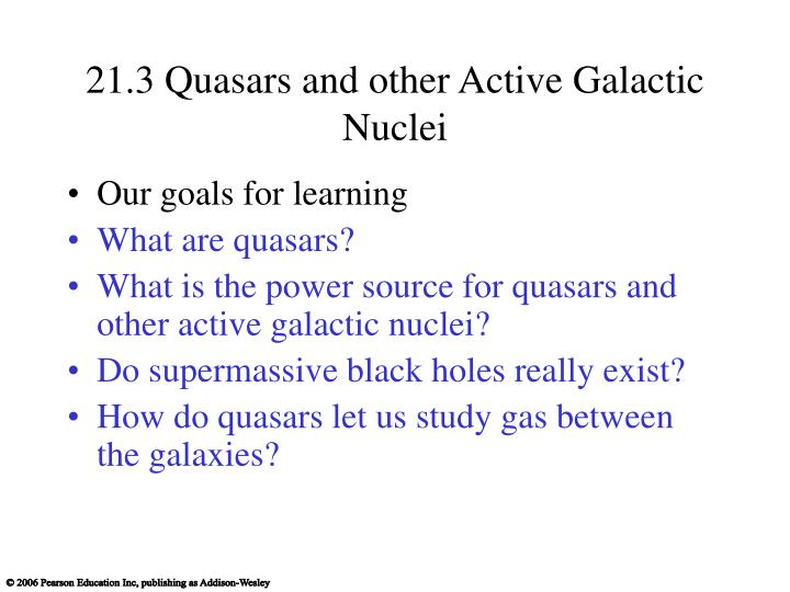 21.3 Quasars and other Active Galactic Nuclei