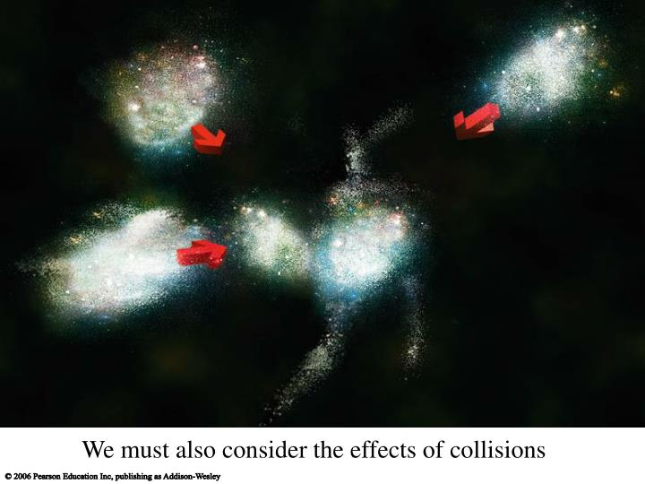 We must also consider the effects of collisions