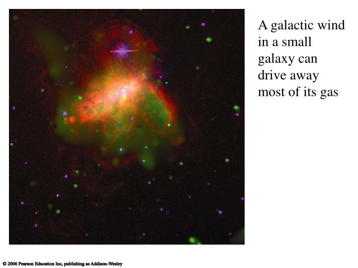 A galactic wind in a small galaxy can drive away most of its gas