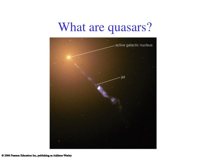 What are quasars?