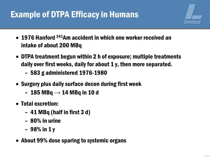 Example of DTPA Efficacy in Humans