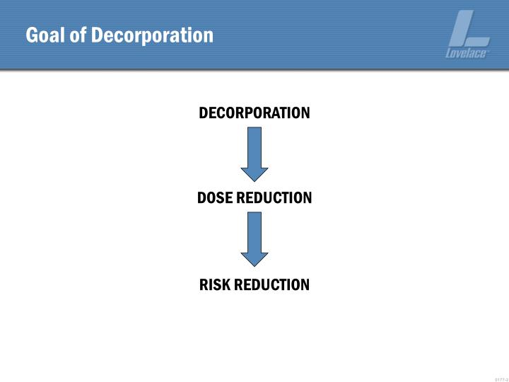 Goal of Decorporation