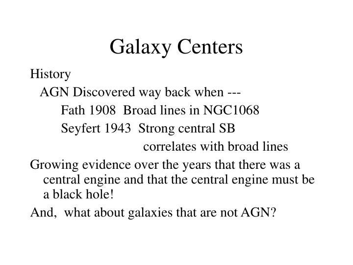 Galaxy Centers