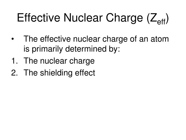 Effective Nuclear Charge (Z