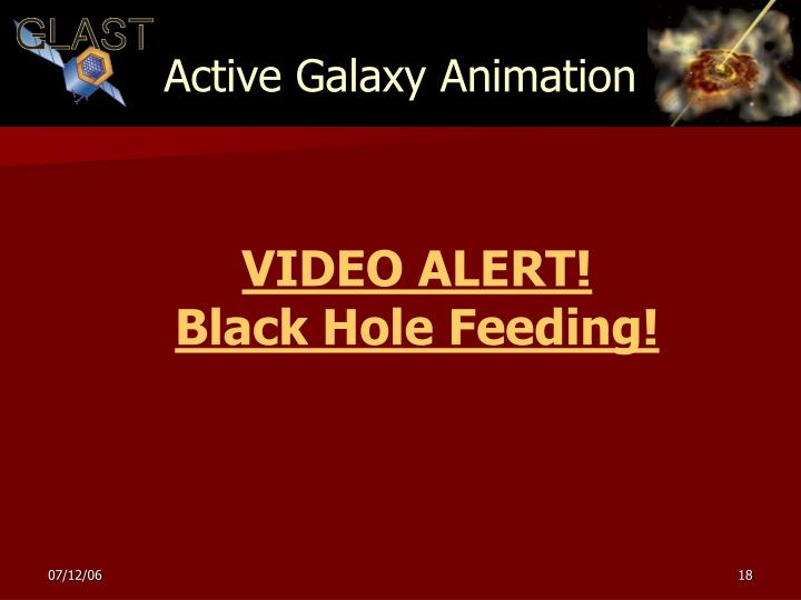 Active Galaxy Animation