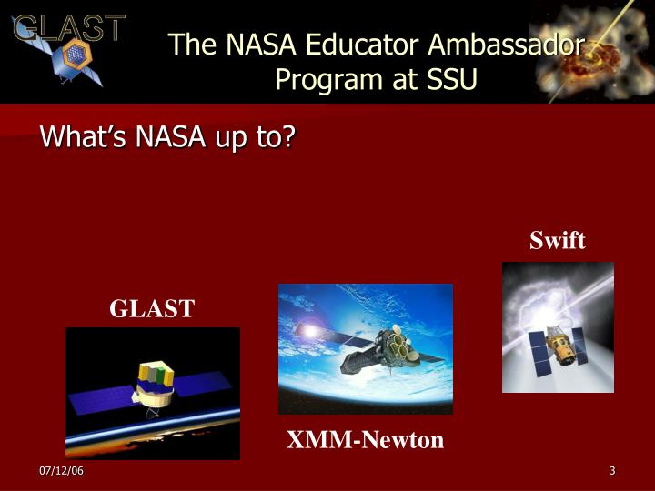 The NASA Educator Ambassador Program at SSU
