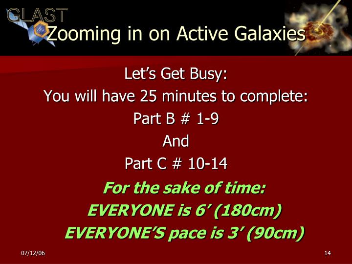 Zooming in on Active Galaxies