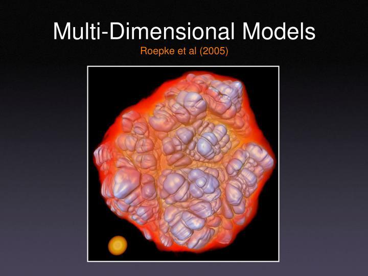 Multi-Dimensional Models