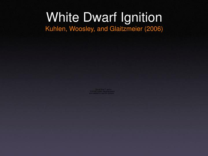 White Dwarf Ignition