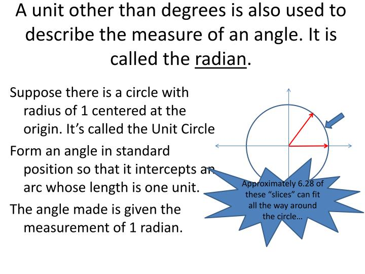 Measure Of An Angle : Ppt unit introduction to trigonometry powerpoint
