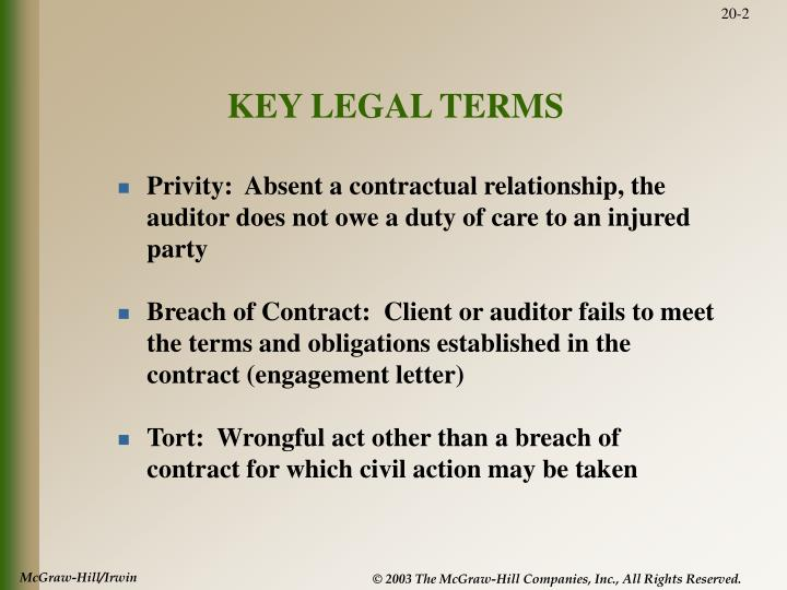 KEY LEGAL TERMS