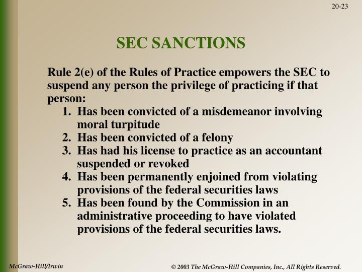 SEC SANCTIONS