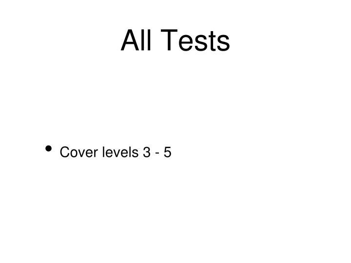 All Tests