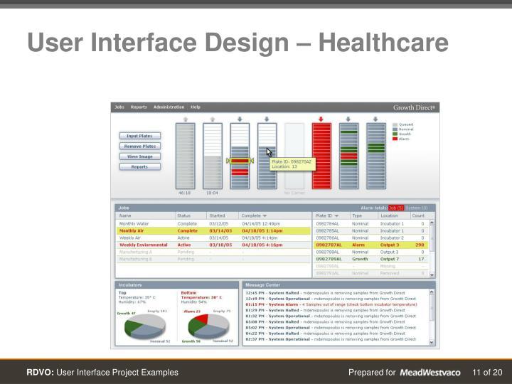 User Interface Design – Healthcare