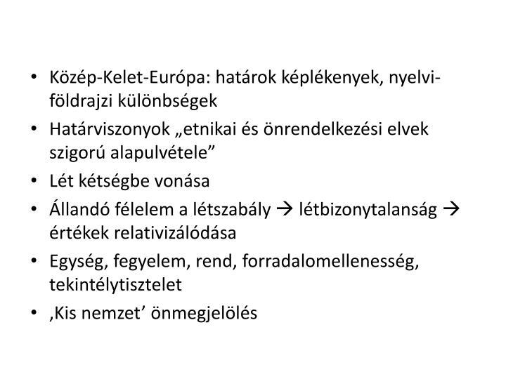 Közép-Kelet-Európa: határok képlékenyek, nyelvi-földrajzi különbségek