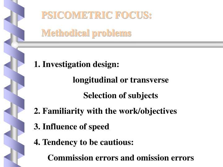 PSICOMETRIC FOCUS: