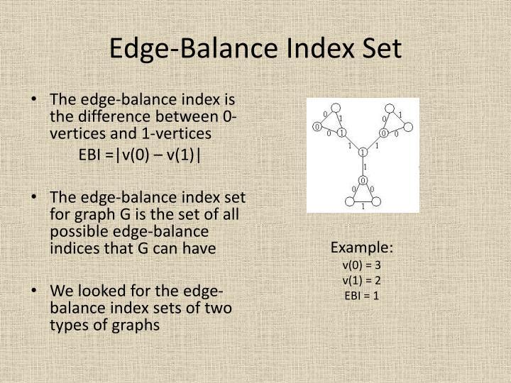 Edge-Balance Index Set