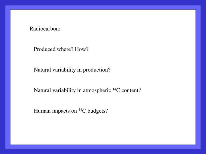 Radiocarbon: