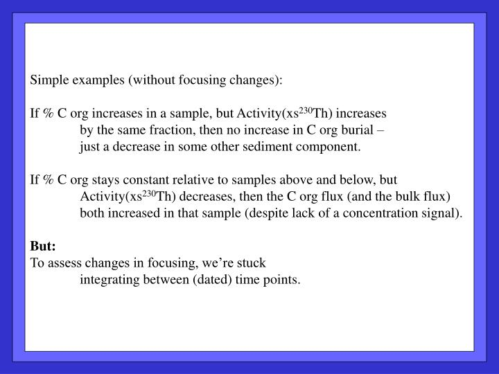 Simple examples (without focusing changes):