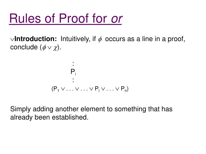 Rules of Proof for