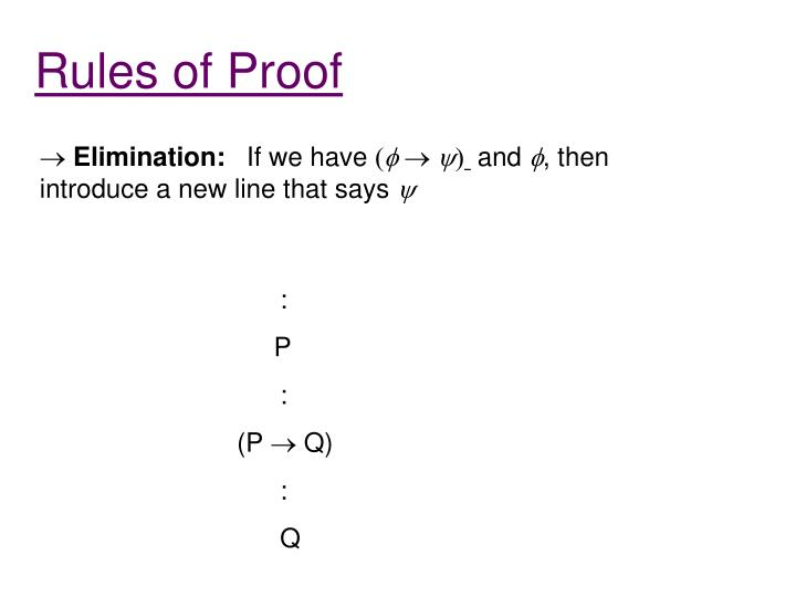 Rules of Proof