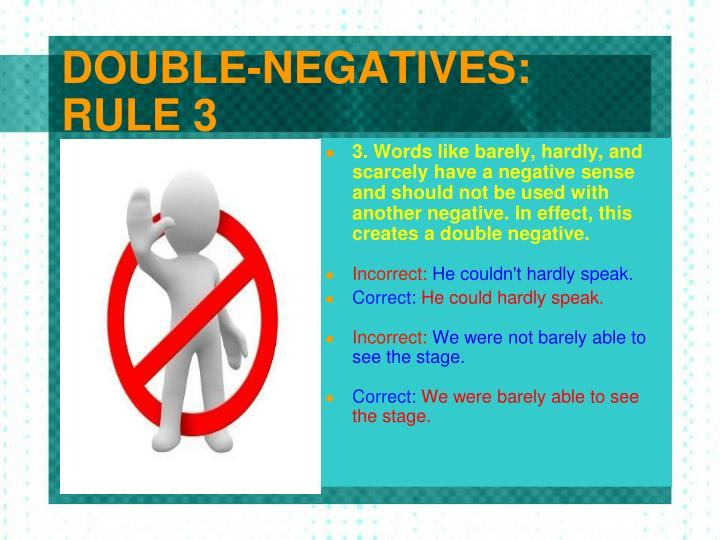 DOUBLE-NEGATIVES:
