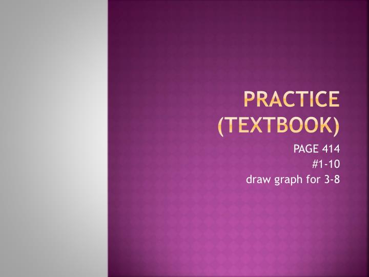Practice (textbook)