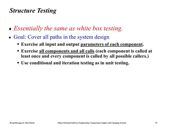 Structure Testing