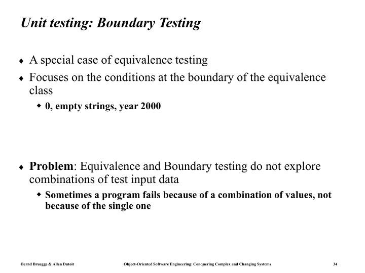 Unit testing: Boundary Testing