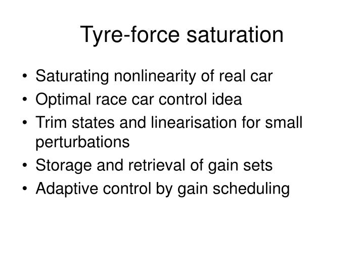 Tyre-force saturation