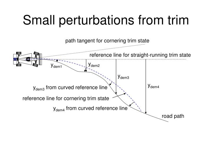 Small perturbations from trim