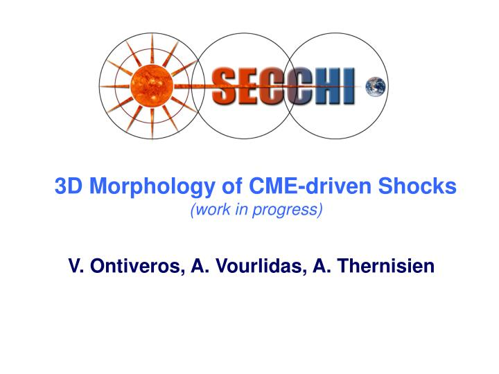 3d morphology of cme driven shocks work in progress