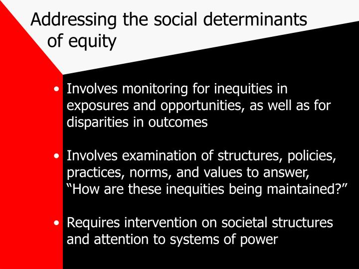 Addressing the social determinants