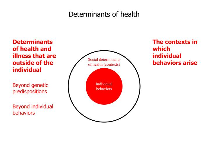 Social determinants of health (contexts)