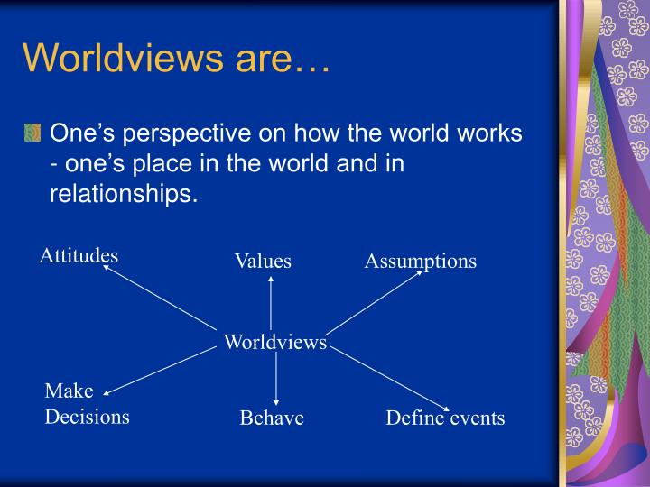 Worldviews are