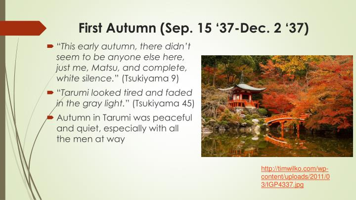 First autumn sep 15 37 dec 2 37