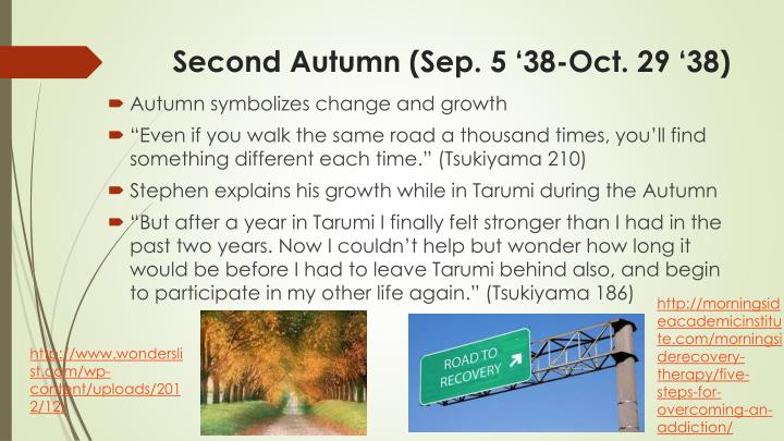 Second Autumn (Sep. 5 '38-Oct. 29 '38