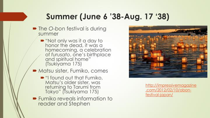 Summer (June 6 '38-Aug. 17 '38)