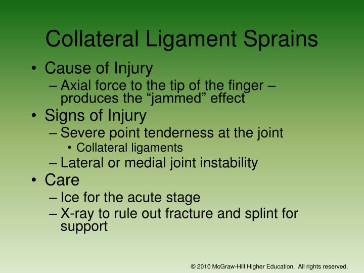 Collateral Ligament Sprains