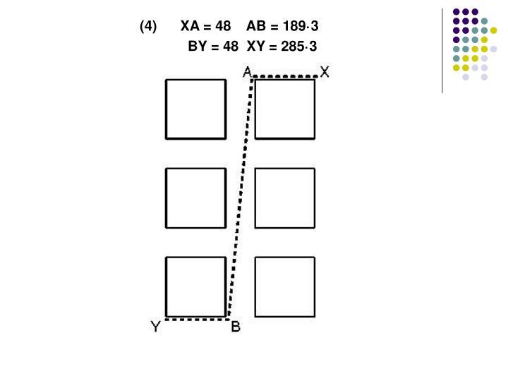 (4)      XA = 48    AB = 189·3