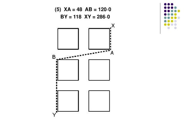 (5)  XA = 48  AB = 120·0